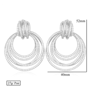 Image 5 - GODKI Luxury Twist Circle Dangle Earrings For Women Wedding Cubic Zircon Crystal CZ Dubai Bridal Earring Fashion Jewelry 2019