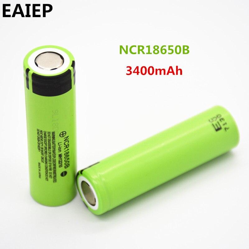 100% nuevo Original NCR18650B 3,7 V 3400 mAh 18650 batería recargable de litio EAIEP linterna