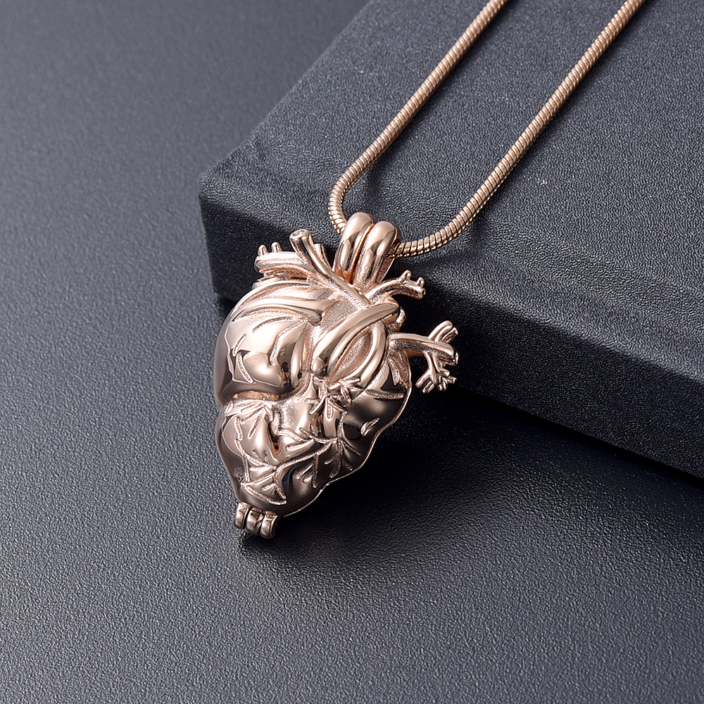 Beautiful Polished Solid Silver Heart Pendant Keepsake For Ashes Keepsake urn