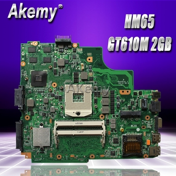Akemy  K43SD laptop Motherboard For ASUS A43S K43S A84S K43SD Mainboard 100% OK  HM65 GT610M 2GB