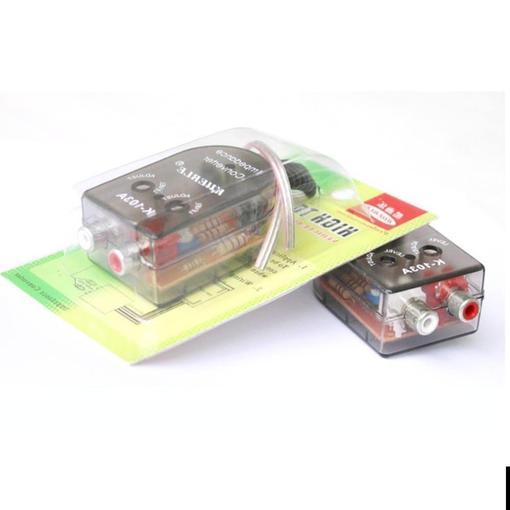 1 STÜCKE Auto Autos Absteigend Impedanzwandler Konverter Adapter ...