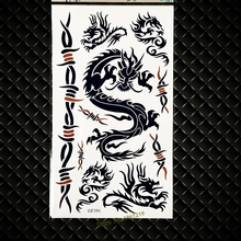Sexy Dragon Women Body Art Painting Tattoo Stickers Men Fake Flash Tattoo Paste Supplies GGF391 Flying Dragon Pattern Tatoo Boys