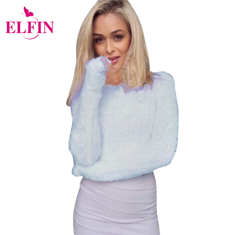 Autumn Winter Long Sleeve Women  Sweater  Warm Hairy Turtleneck Knitted Plush Ladies Top Solid Women Clothes LJ5364R