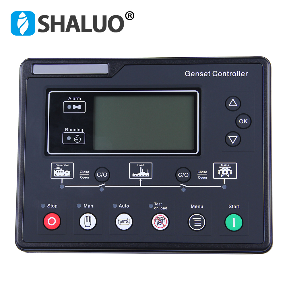 SL6120 AMF Diesel Generator Set Controller LCD Automatic start genset Ats control box terminal charge panel