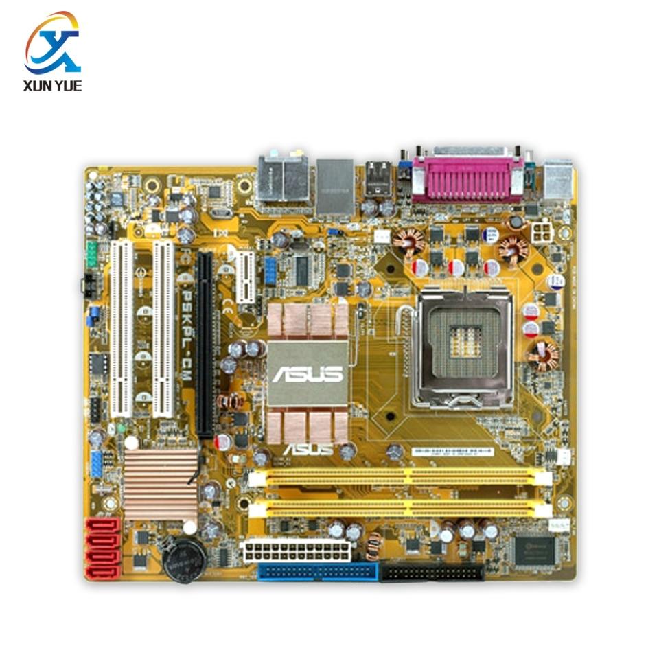 Asus P5KPL-CM Original Used Desktop Motherboard G31 Socket LGA 775 DDR2 4G SATA2 USB2.0 Micro ATX asus original motherboard g31m s2l g31 ddr2 lga 775 motherboard