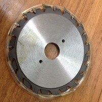 Gratis verzending van industriële kwaliteit 120*2.8-3.6*22/20*12 + 12Z TCT verstelbare kerfblad voor Aluminium plaat/alunimun