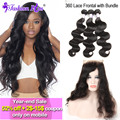 10A Brazilian Body Wave 360 Lace Frontal With Bundle Unprocessed Brazilian Virgin Hair Human Hair Bundles Mink Brazilian Hair
