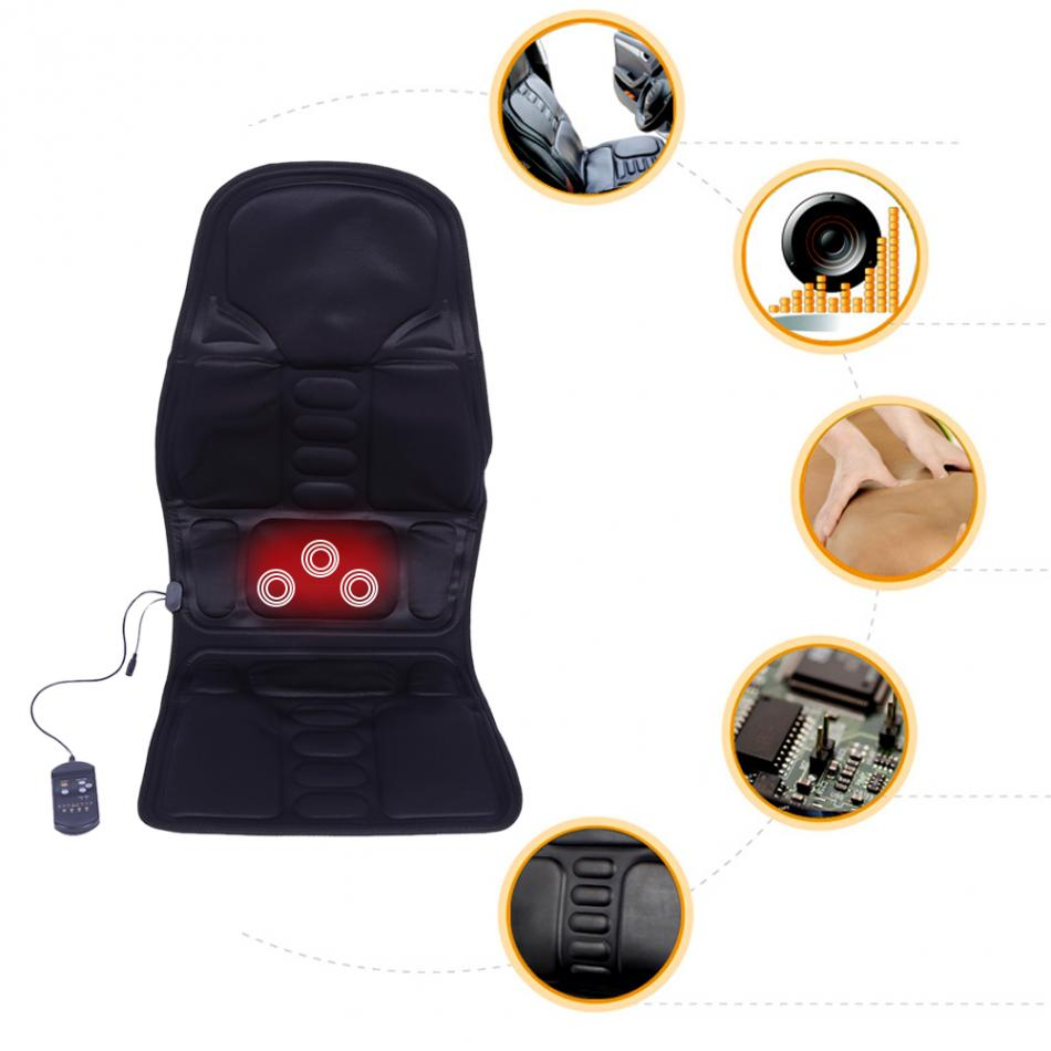 Oversea Electric Massage Chair Pad Cushion Auto Car Home Office Full-Body Neck Back Lumbar Shiatsu Massager Chair Relax Seat Pad car seat office chair back cushion back lumbar massage black mesh ventilate cushion pad pain relief seat posture corrector