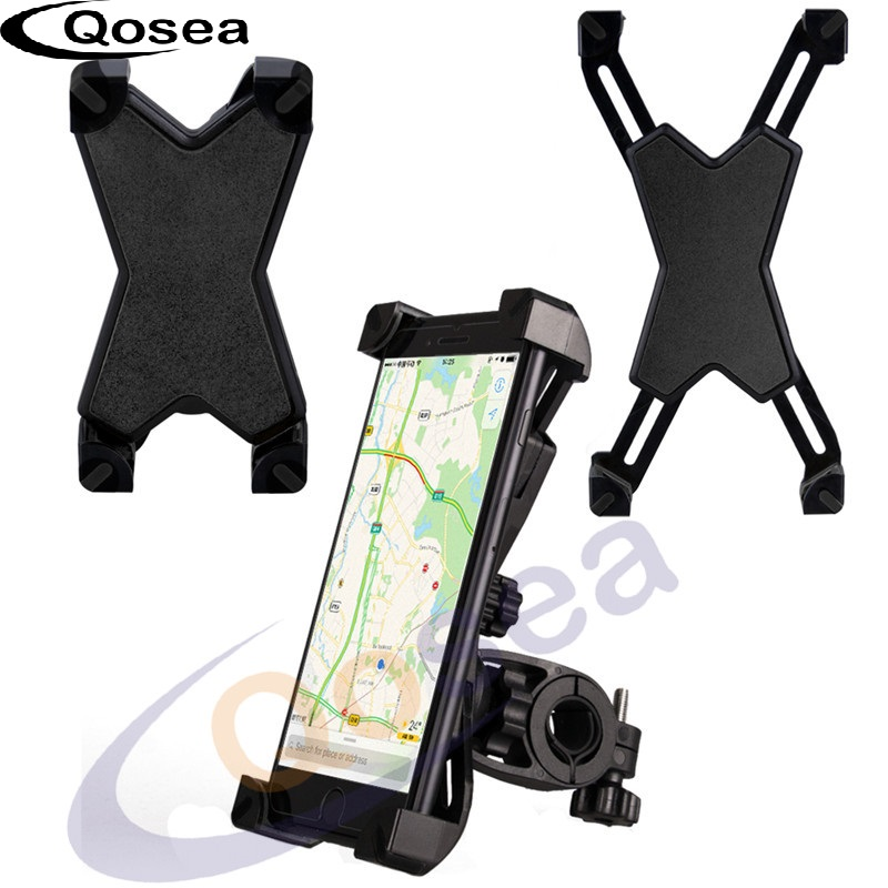 Qosea Universal Bike Phone GPS Mount Bicycle Holder 360 Degree Rotate Phone Stand Suppor ...