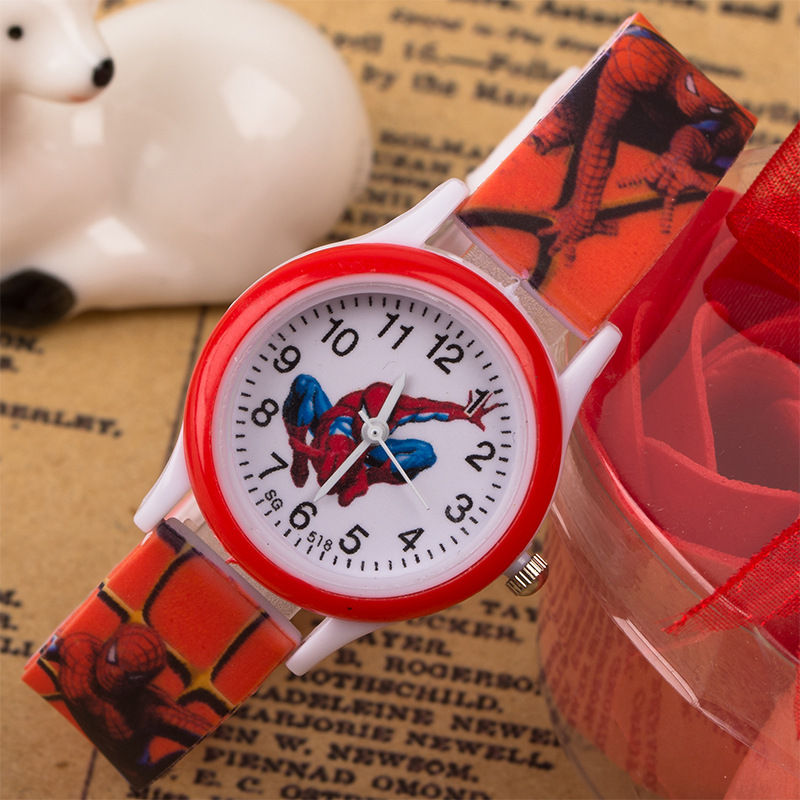 Cartoon Anime Spiderman Children's Watches Kids Silicone Strap Children Watch Quartz Boys Girls Student Clock Sports Child Watch
