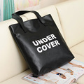 Fashion Women Pu Leather Hand bags letter shopping bag supermarket eco trolley bags tote Simple handbag reusable XX-830