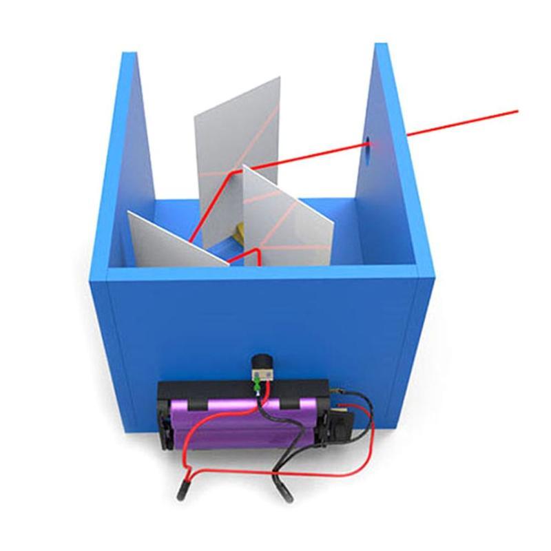 DIY Handmade Intellectual Development Light Plastic Kids Science Light Reflex Experiment Education Toy Reflex Experiment Toys