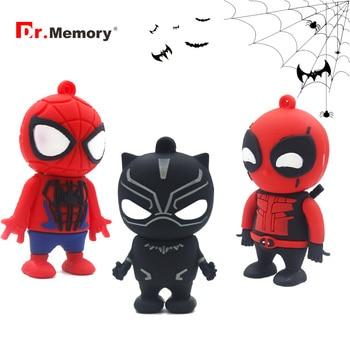 Cartoon Sumer Heros Usb Flash Drive 64GB Black Panther 4GB 8GB 16GB 32GB Memory Stick 128GB Pen Drive Gift