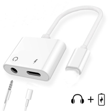 For lightning to 3.5mm Aux Headphone Adapter Audio Charging Cable Adaptador For iPhone X XS Splitter For iPhone Adapter IOS 12.3