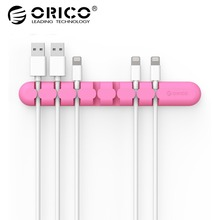 ORICO Cable Winder Wire Organizer Desktop Clips Cord Management Headphone Cord Holder For iPhone Charging Data