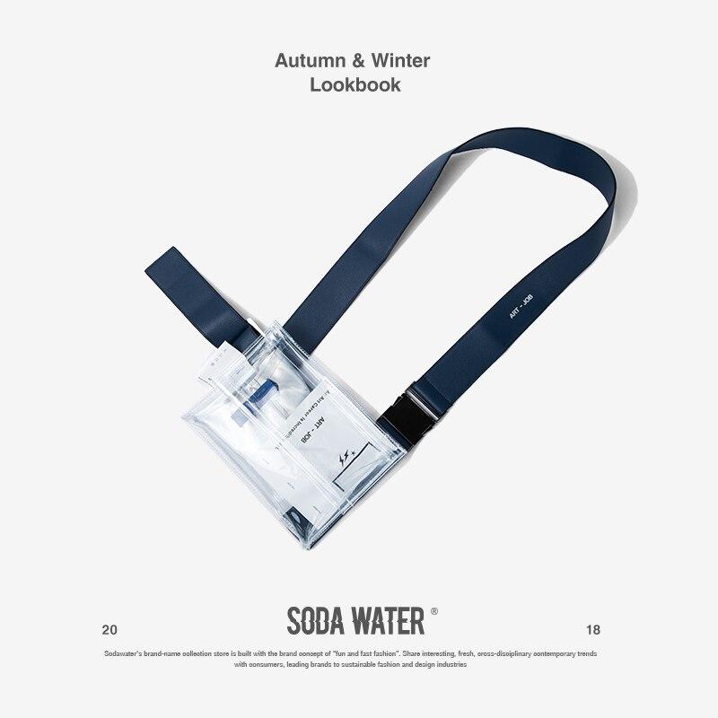 SODA WATER Fashion Clear Belt Bag Shoulder Chest Bag 2019 Design Messenger PVC Bags Transparent Waist Bag Phone Pouch 152AI2017