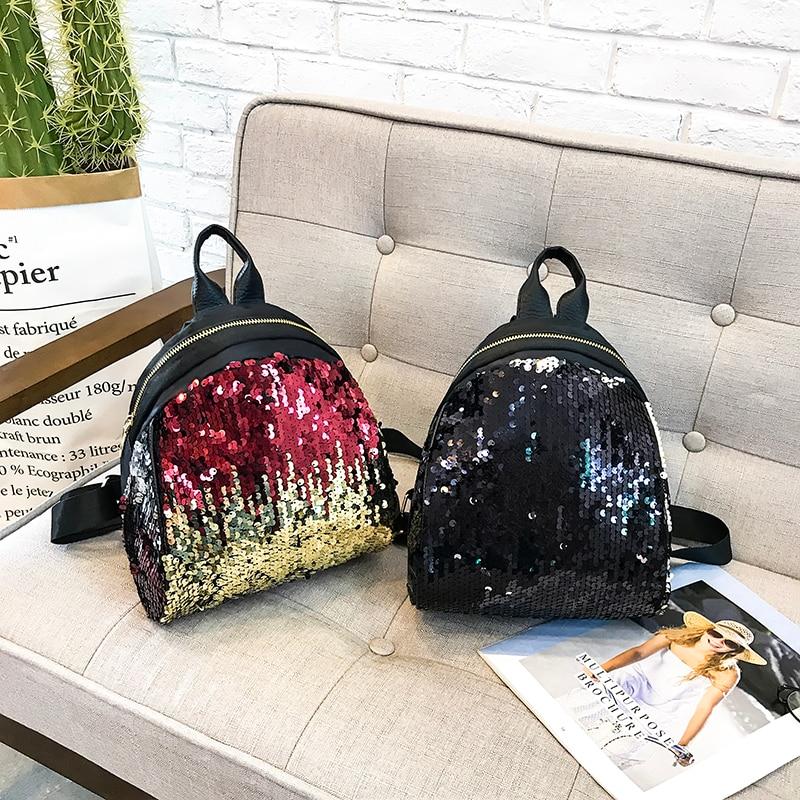 Backpacks women Korean mini 2018 new sequined shell fashion trend women go with small backpacks travel backpack 67