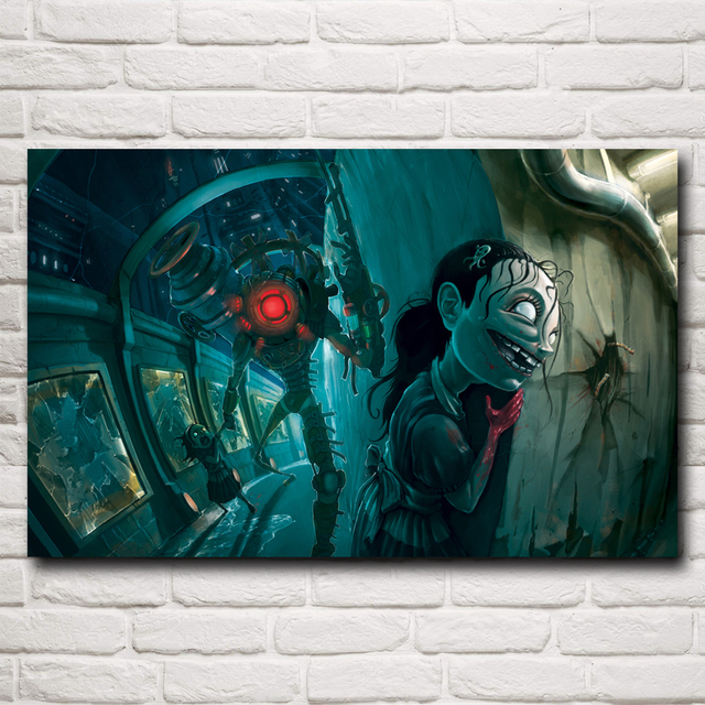Bioshock Infinite Game Art Classical Silk Fabric Poster Print 12×19 15×24 19×30 22×35 inches Home Decor Painting Free Shipping
