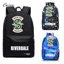 Riverdale Southside South Side Serpents Riverdale Backpack Mochila School Bags Travel Bag Galaxy Children Book Bags Kids Gift(China)