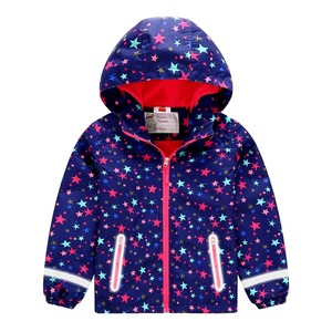 Image 3 - Spring Autumn Waterproof Stars Print Fleece Child Coat Baby Girls Jackets Children Outerwear Kids Outfits For 3 12 Years Old