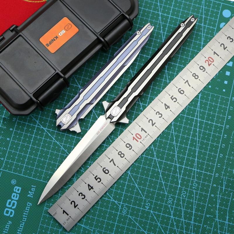 STEDEMON E01S tactics folding knife VG10 blade KVT ball bearing titanium handle camping hunting outdoor Survival
