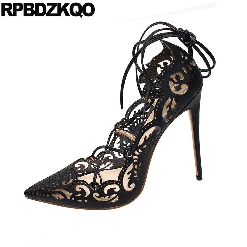 Transparent or femmes parti chaussures escarpins bout pointu exotique danseuse 12 cm 5 inch 13 45 noir gladiateur talons hauts 12 44 mince robe