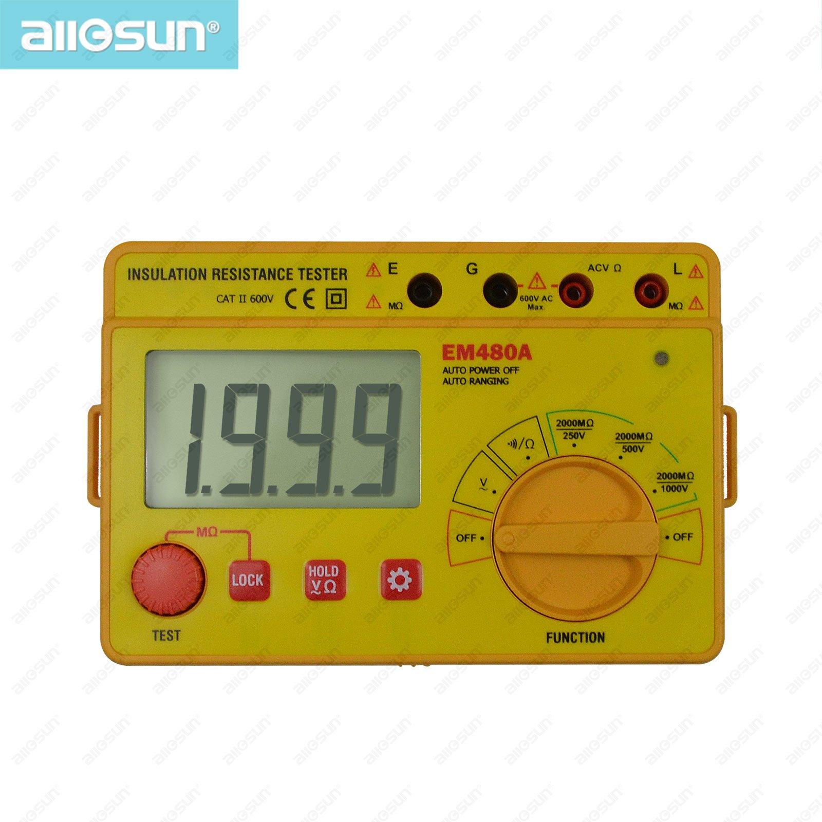 111all-sun EM480A  insulation resistance tester portable voltage AC 600V professional tester resistance continuity tester