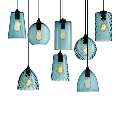 Retro Industry Single Head Led Pendant Lamp Crystal Blue Glass Coffee Bar Restaurant Living Room Hanging LightingRetro Industry Single Head Led Pendant Lamp Crystal Blue Glass Coffee Bar Restaurant Living Room Hanging Lighting