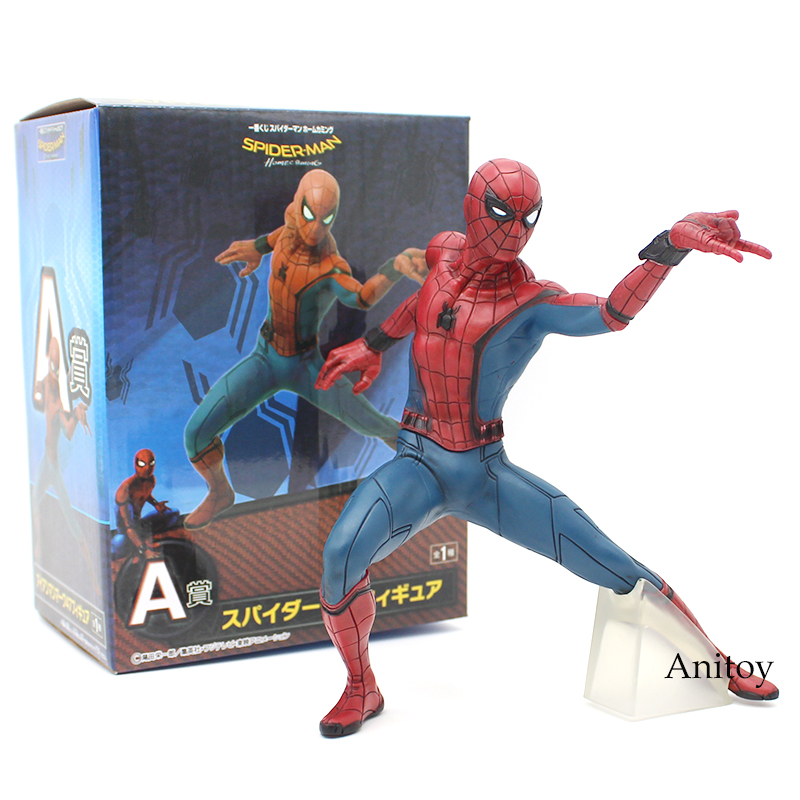 Spider Man Homecoming Spiderman / Iron Man MK47 PVC Figure Collectible Model Toy with Retail Box 2 Styles the amazing spider man venom cletus kasady carnage pvc action figure toy spiderman villain venom collectible model toy gift n038