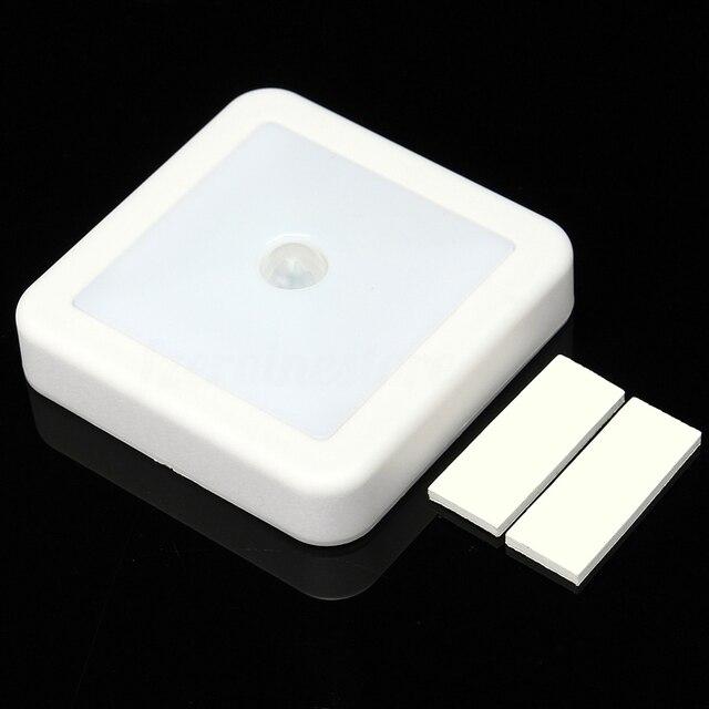 Mayitr sans fil pir motion sensor 6 led lumière de nuit armoire escalier batterie propulsé mur
