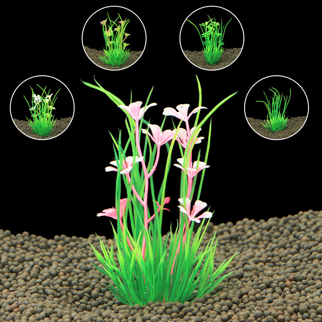 1PC  NEW Artificial Plastic aquarium plants Grass for aquarium background Fish Tank Aquarium Ornament decoration