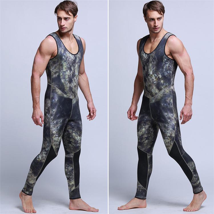 Men\'s 5mm SCR Full Suit Camouflage two Piece Splicing Diving Suits Surfing snorkel swimsuit Split Suits combinaison surf wetsuit (5)