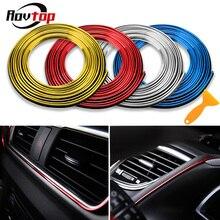 Rovtop 5 м, наклейки для салона автомобиля, Декоративная полоса, Формовочная Автомобильная Дверная панель, воздушная розетка, рулевые полосы для автомобиля Z2