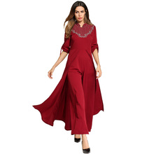 #1865796# Speed Sell European and American Pendant Dress Foreign Trade Abaya Middle East Light Arabia Robes Mujer