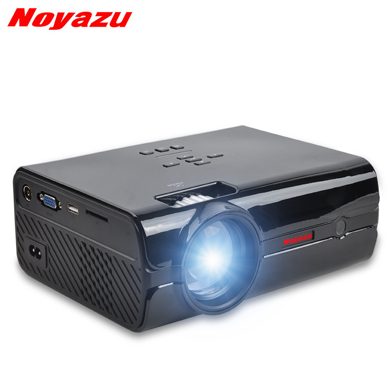 Noyazu BL15 Android 6.0 Mini LED LCD projector For Home Theater projectors 1500Lumens HDMI\AV\VGA\USB\SD FULL HD 1080P Optional tv home theater led projector support full hd 1080p video media player hdmi lcd beamer x7 mini projector 1000 lumens