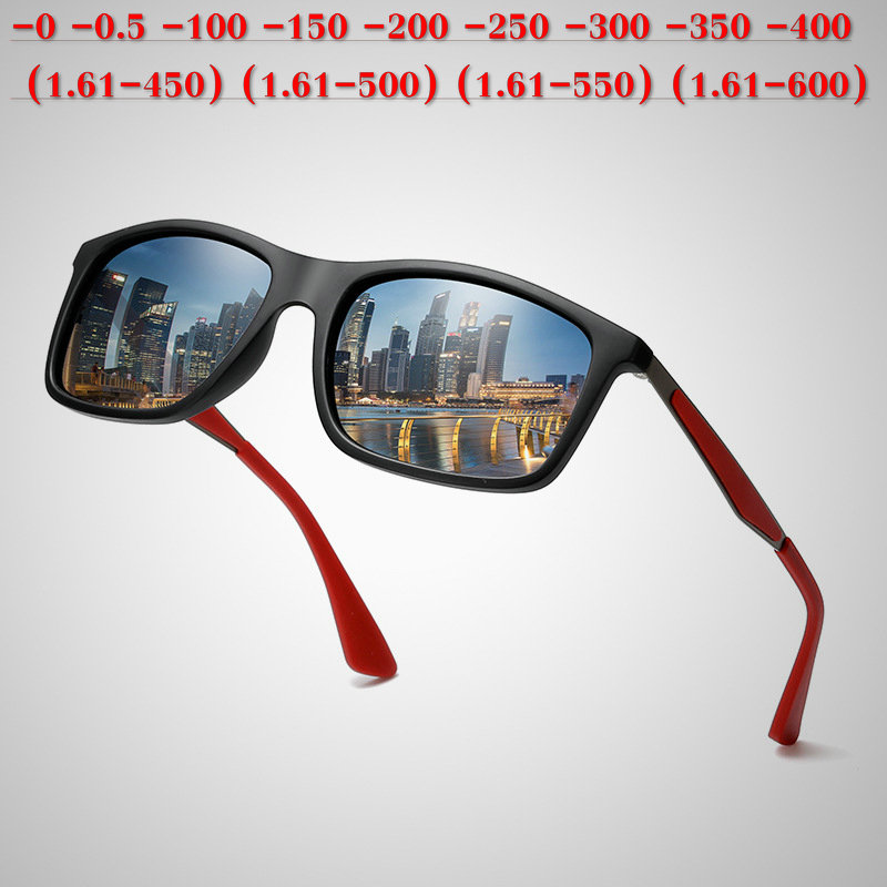 370a15fcc24c Diopter SPH 0 -0.5 TO -6.0 Finished Myopia Sunglasses Men Women Nearsighted  Prescription Lens