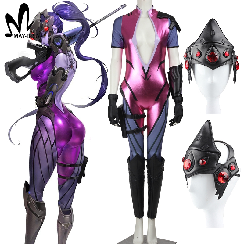 Hot Game OW Overwatch Widowmaker Cosplay Costume Jumpsuits Comic con Full set