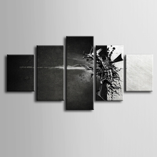 Wholesale 5 pieces / set of Abstract movie poster wall art for decorating home Decorative painting on canvas framed