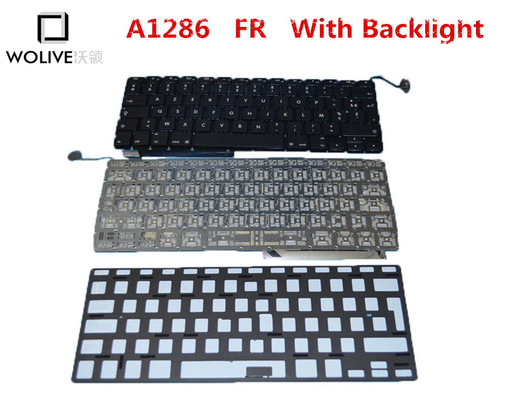 Genuine New A1286 FR Keyboard For font b Macbook b font Pro 15 2009 2012 Year