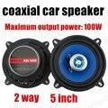 Бесплатная доставка  2 шт.  5 дюймов  2 способа  2x100 Вт  автоматический коаксиальный динамик  автомобильный стерео динамик  автомобильный аудио...
