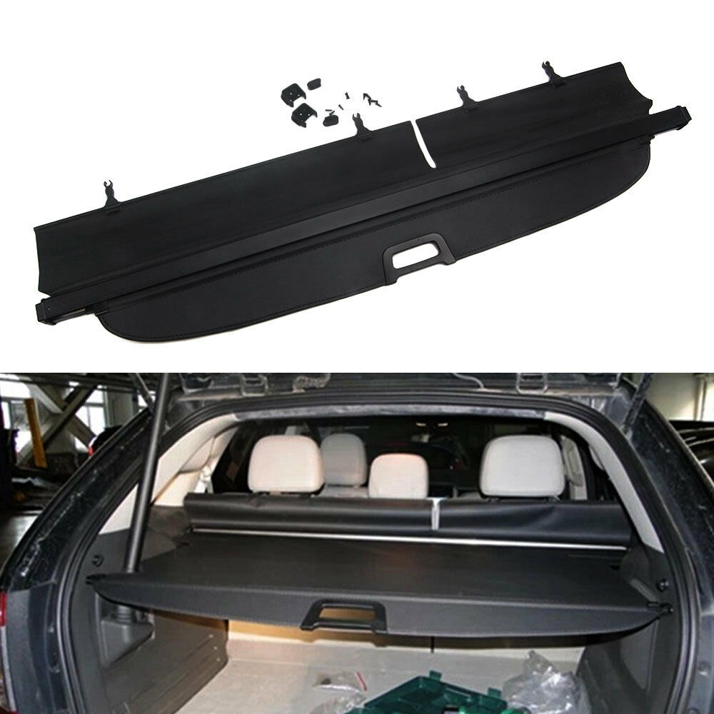 For Old Ford Edge 2011-2013 High Configuration 1pc Rear Trunk Cargo Cover Retractable Privacy Shade Curtain Black Car Styling