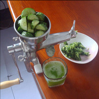 304 Stainless Steel Hand Manual Fruit Juicer Wheat Grass Squeezer Juice Extractor|Juicers| |  -