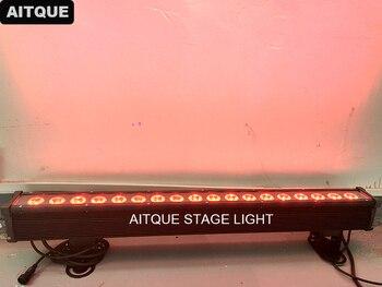 20 Pcs Putih Cerah Strip Outdoor Lampu LED Wall Washer 18X10 W RGBW LED Wall Washer Slim IP65 tahan Air Membangun Cahaya