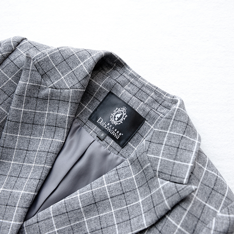 small coat 2017 new autumn plaid slim handsome elegant OL blazer women