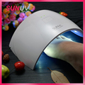SUNUV UV Nail Lamp SUN9c 24W Nail Dryer Button Timer Curing Hard Gel Polish Best for Personal Home Manicure