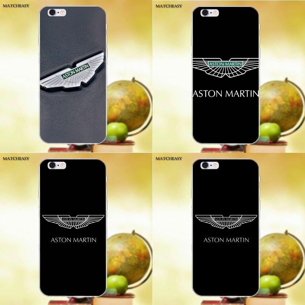 Auto Aston Martin <font><b>Logo</b></font> Für Apple <font><b>iPhone</b></font> X XS Max XR 4 4 s 5 5C SE 6 6 s 7 8 Plus X Weiche TPU Mode Handy Fall image