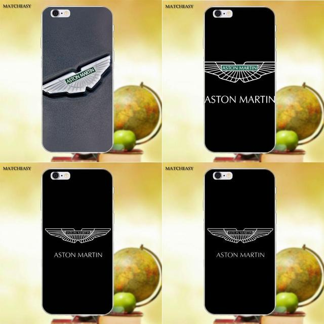check out c9411 25d65 US $1.99 |Car Aston Martin Logo For Apple iPhone X XS Max XR 4 4S 5 5C SE 6  6S 7 8 Plus X Soft TPU Fashion Cell Case-in Half-wrapped Case from ...