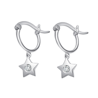 LEKANI 2019 925 Sterling Silver Star Cubic zirconia Earring Crystals from Swarovski Small Drop Earrings Gift Women Charm Jewelry