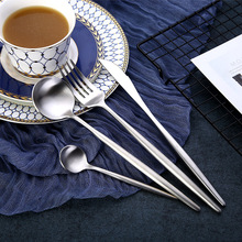 4Pcs/Set Stainless Steel Flatware Cutlery Set Gold Rainbow Black Dinnerware Tableware Fork Knife Coffee Spoon Drop Shipping