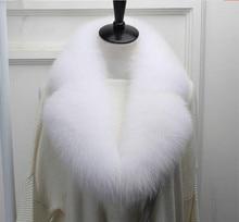 Fake collar of natural fox fur women winter big suit female fashion white scarf S801